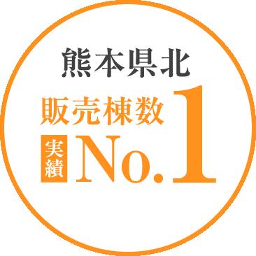 熊本県北 販売棟数 NO.1